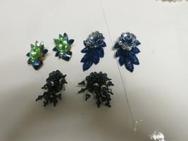 Costume Jewelry , Vintage , Earrings , Green , Blue , Green/Blue , Lot o... - $40.00