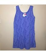 Fresh Produce Happy Life Sun Dress Sleeveless Side Pockets Periwinkle Si... - $33.48