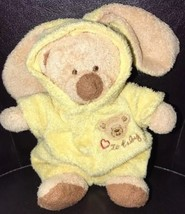 "7"" Ty Pluffies Bear 2004 Yellow Removable Pajamas PJs Love to Baby Plush Stuffed - $49.49"