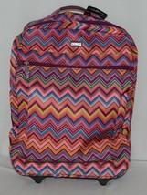 Hadaki Brand HDK879 Multi Color Chevron Plane Hopping Roller Suitcase image 1
