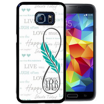Personalized Case For Samsung S9 S8 S7 S7 S6 Plus Rubber Infinity Feather Art - $13.98