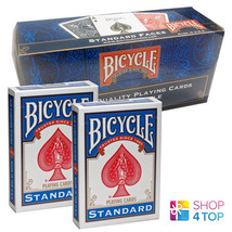 12 DECKS BICYCLE DOUBLE BACK NO FACE SEALED BOX RED BLUE MAGIC TRICKS CARDS - $63.75