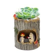 Multifit Flower Sedum Succulent Planters Tree Hole Pots Resin Flowerpot ... - $29.80 CAD