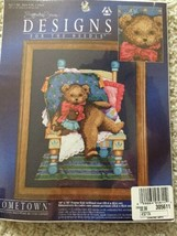 """A Floppy Teddy Bear on Chair Hometown Counted Cross Stitch kit 14"""" x 16"""" - $12.07"""