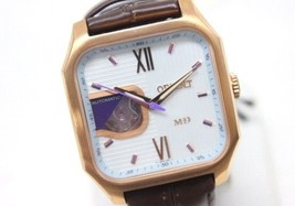 AUTHENTIC ORIENT ModeID Men's Wristwatch SS Leather Belt Automatic WD0021DB - $190.00