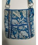 Vera Bradley Blue Lagoon Floral Print White Crossbody Shoulder Bag Purse... - $9.99