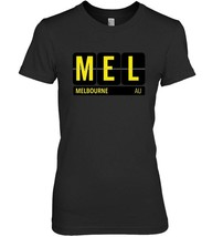 MEL Melbourne Australia Travel Souvenir T shirt Yellow - $19.99