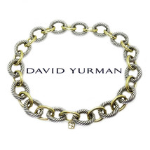 David Yurman Sterling & 18k Solid Gold Extra Large Link Necklace 17″ - $3,950.00