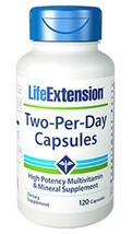 MULTIPACK Life Extension Two-Per-Day 120 Capsules Multivitamin Mineral - $50.75