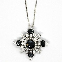 Necklace Silver 925, Chain Venetian, Pendant Pendant Snowflake, Zircon image 2