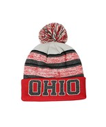 Ohio Men's Blended Stripe Winter Knit Pom Beanie Hat (Red/White) - $12.95