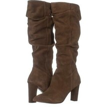Franco Sarto Artesia Pointed Toe Slouch Knee High Boots 322, Light Brown Suede, - $71.03