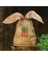 Country CARROTS FOR SALE BUNNY DOLL Primitive Spring Easter Farmhouse Ru... - $54.99