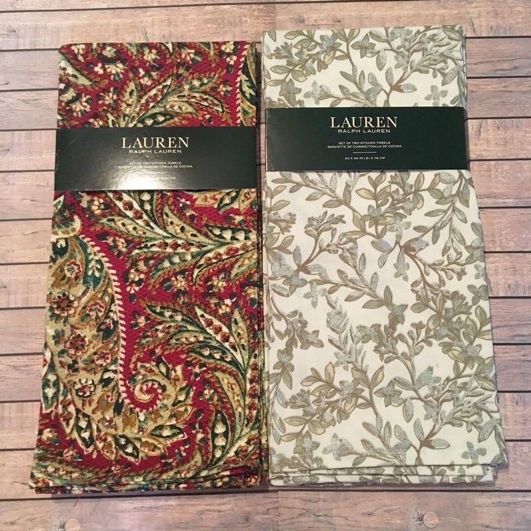 Ralph Lauren Kitchen Dish Towels 20 X 30 2 And 29 Similar
