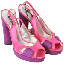 Authentic Dolce & Gabbana Pink Color Block Slingback Pumps Heels Size 38 - $183.15