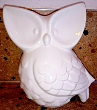 "White Big Eyed Ceramic Owl Figurine 8"" - $34.64"