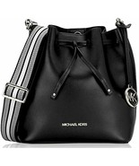 Michael Kors Eden Medium Bucket Bag Shoulder Tote Black Leather Crossbody  - $163.34