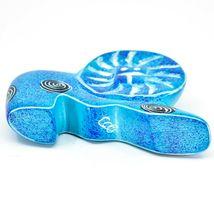 Crafts Caravan Hand Carved Soapstone Speckled Blue Lion Figurine Made in Kenya image 6