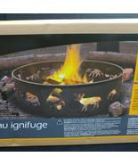 "Landmann 28"" Fire Pit Ring, Steel, Black, Wildlife, Camping, Cookouts, Backyard - $48.00"
