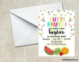 Tutti Frutti Fruit Birthday Party Invitations Personalized Custom - $0.99+