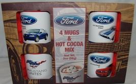 Ford Carrozze Tazze in Ceramica Coppe 4 Pc Nuovo Hot Cacao Mustang Tagli... - $25.76