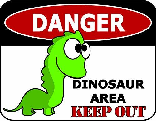 Primary image for Top Shelf Novelties Danger Dinosaur Area Keep Out Laminated Funny Sign sp1167