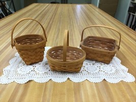 Lot Of 3 Small Longaberger Baskets American Cancer Society - $14.99