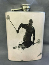 Vintage Skiing D43 Flask 8oz Stainless Steel Drinking Whiskey Clearance ... - $9.90