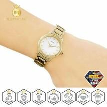 SEIKO Ladies Watch Quartz Analog White Dial Stainless Steel Gold Bracelet SRZ482 - $213.40