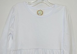 Blanks Boutique Long Sleeve Empire Waist White Ruffle Dress Size 4T image 2