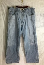 Levi 509 Mens Jeans Size 40x30 Orange Tab Blue Denim Distressed Grunge  - $64.35