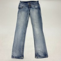 Rue21 High Waist Skinny Denim Jeans Women's 1/2R Blue Freedom Flex Butto... - $18.95