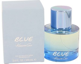 Kenneth Cole Blue 3.4 Oz Eau De Toilette Cologne Spray - $40.64