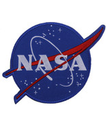 """NASA Meatball Morale Patch Official Space Logo Hook & Loop 4-3/4"""" x 4-1/2"""" - $7.29"""