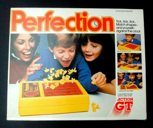 Vintage 1980s PERFECTION 100% Original, Working & Complete Boxed Game Action GT