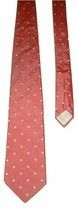 "Pierre Cardin Couture Men's Silk Neck Tie Pink White Dot 56"" Italy - $7.99"