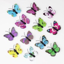 100 Pieces 3D PVC Artificial Butterfly Decor For Home DIY Christmas Wedd... - $14.95