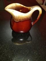 VINTAGE McCoy Brown Drip Glaze Pottery Pitcher USA Oven Proof Crock  Ant... - $48.95