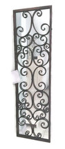 Full Length Metal Wall Mirror Antique Bronze Foyer Wrought Iron Urban In... - $265.01