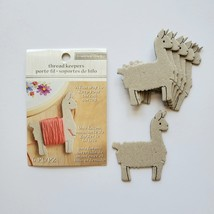 Llama Thread Keeper /Floss Keeper / Bobbins. Set of Six