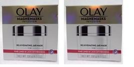 2 x Olay Magnemasks Infusion Rejuvenating Jar Mask 4.5 oz.for Fine Lines... - €43,99 EUR
