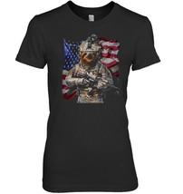 USA America Patriot Giant Sloth as Army Commando T Shirt - $19.99+