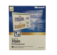 Microsoft Visio Professional Version 2002 Business and Technical 98 or L... - $29.39