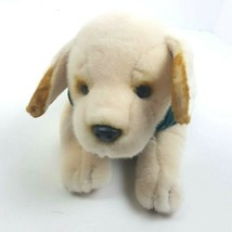 Ulta Plush By Russ Berrie Lab Dog Puppy Green Vest Stuffed Animal Bow Tie - $33.65