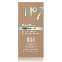 No7 Warm Sand Match Made Custom Blend Foundation Drops 15ml New - $7.84
