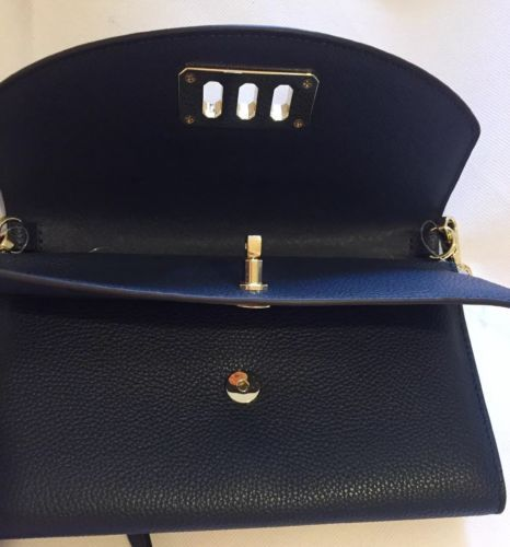 Michael Kors Karson Blue Cross Body Shoulder Bag Handbag Leather RRP £195