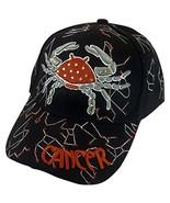 Zodiac Horoscope Sign Adult Size Adjustable Baseball Caps (Cancer) - $12.95