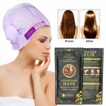 Hair Mask Automatic Heating Steam Nourish Oil Repair Damaged Conditioner... - $31.99