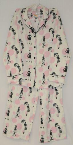Morgan Taylor Intimates Bubble People Adult Small Pajama Set White Grade B