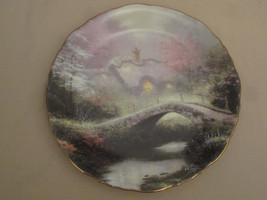 BROOKSIDE HIDEAWAY collector plate THOMAS KINKADE Romantic COTTAGE - $23.92
